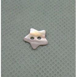 Bouton nacre étoile rose 10mm