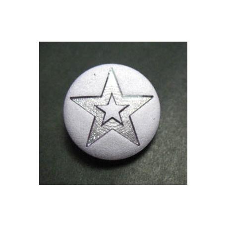 Bouton étoile parme 18 mm b1