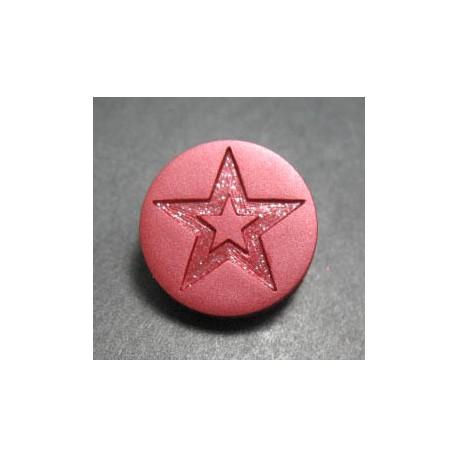 Bouton étoile corail 15 mm b1