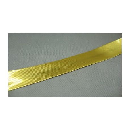 Biais préplié doré 20mm