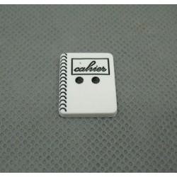 Bouton cahier blanc noir 24mm