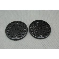 Bouton ciselé noir 27mm