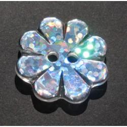 Bouton fleur hologramme 22 mm b1