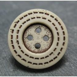 Bouton trait écru 22 mm b39