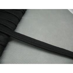 Passepoil coton noir 12mm