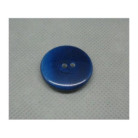 Bouton corozo bleu marin 23 mm