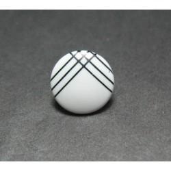 Bouton ligne blanc noir 13 mm b1