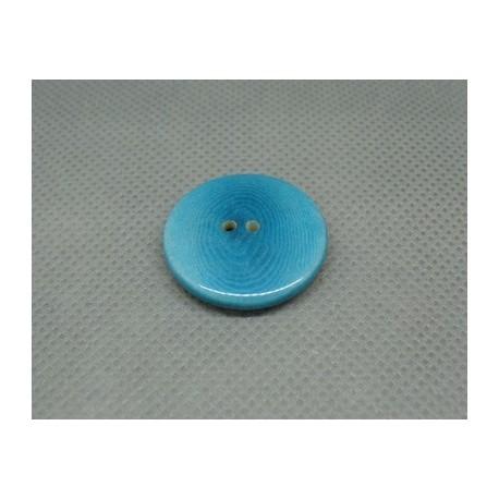 Bouton corozo turquoise 23 mm