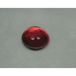 Bouton nacre rouge 20mm
