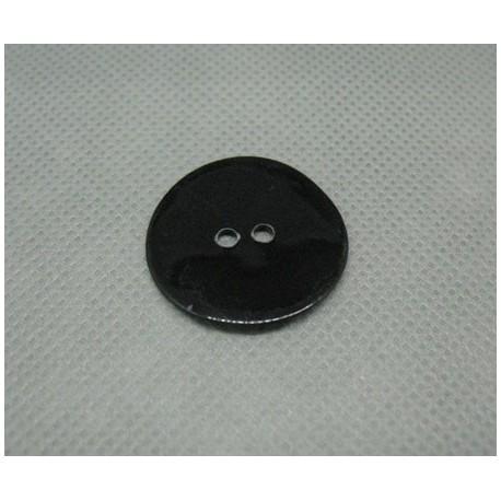 Bouton nacre noir 25mm