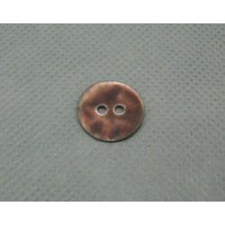 Bouton nacre touché gomme marron 14mm
