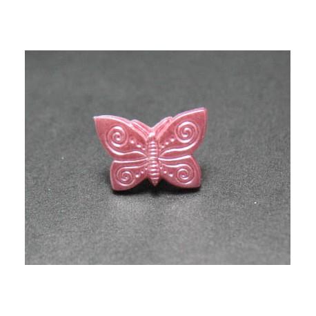 Bouton papillon rose b1