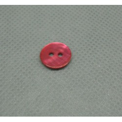 Bouton nacre fuschia 12mm