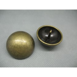 Bouton demi boule vieil or 28mm
