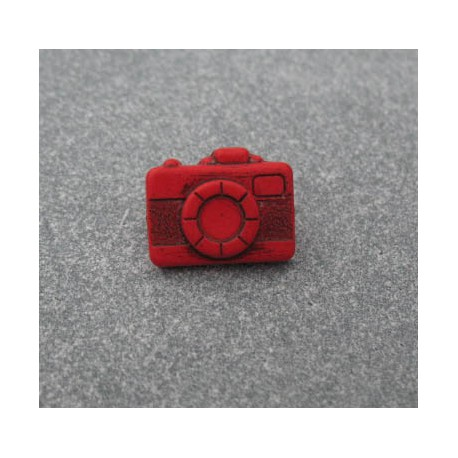 Bouton appareil photo rouge  16 mm  b20