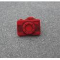Bouton appareil photo rouge  16 mm  b20