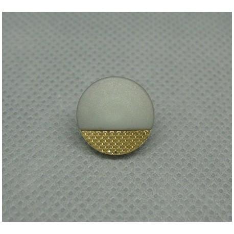 Bouton seventies doré gris 13mm