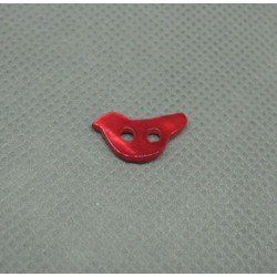 Bouton nacre oiseau rouge 12mm