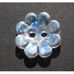 Bouton fleur hologramme 15 mm b64