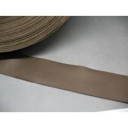 Ruban cuir grainé marron 30mm