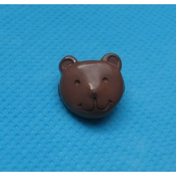 Bouton tête ours marron 14mm