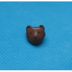 Bouton tête ours marron 12mm