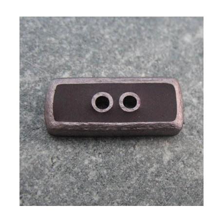 Bouton lingot 49 cuivre marron b64