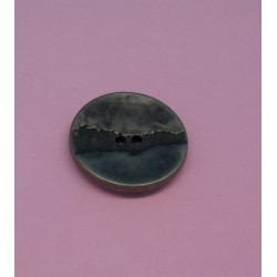 Bouton métallisé fissure vieil argent 18mm