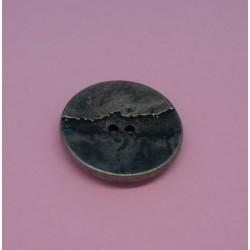 Bouton métallisé fissure vieil argent 23mm