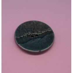 Bouton métallisé fissure vieil argent 31mm