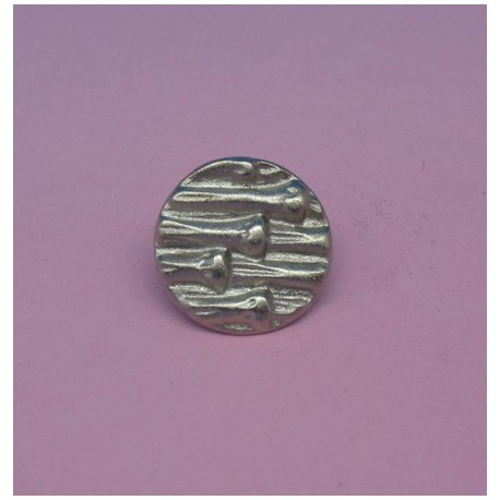 Bouton bambou argent 15mm