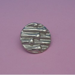 Bouton bambou argent 18mm