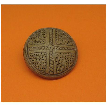 Bouton aborigene caramel 31mm