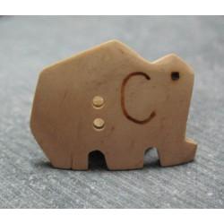 Bouton éléphant noix de coco 30 mm b23