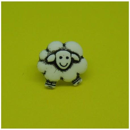 Bouton mouton blanc 13mm