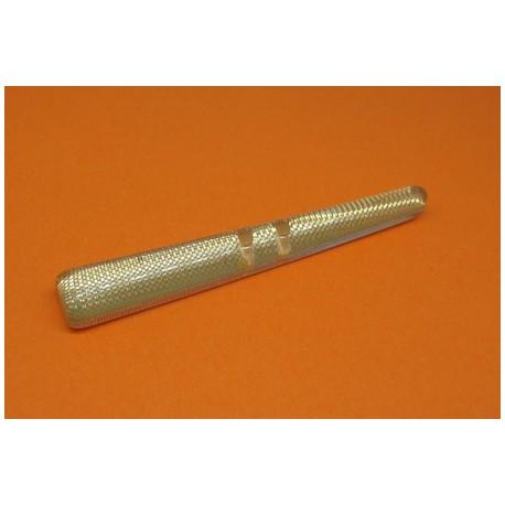 Buchette translucide inclusion tissu or effet loupe 60mm