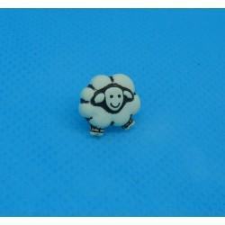 Bouton mouton écru 12mm