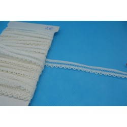 Dentelle coton blanche entre deux 10mm