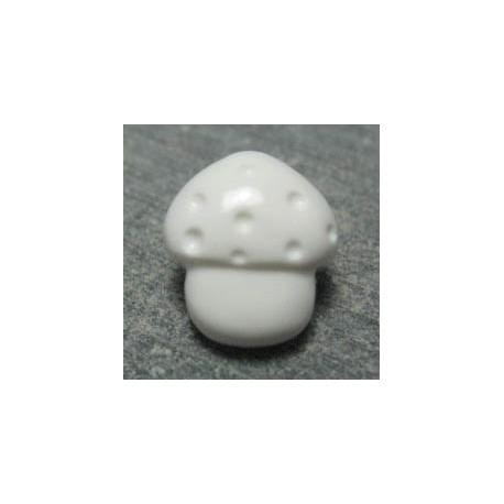 Bouton Champignon blanc 12 mm b22
