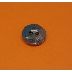 Bouton multifacette vieil argent 15mm