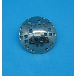 Bouton troué nickel 23mm
