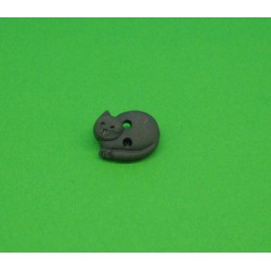 Bouton chat dormant marron 12mm