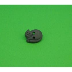 Bouton chat dormant marron 12mm