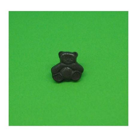 Bouton ourson marron 11mm