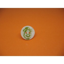 Bouton nacre riviere mouton vert 20mm