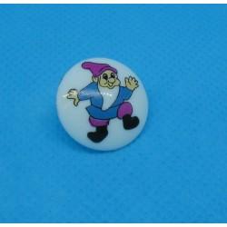 Bouton nain bleu 18mm
