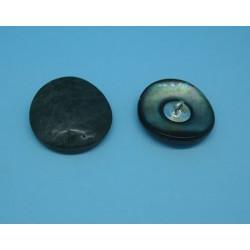 Bouton nacre trocas inversée bronze antique 22mm