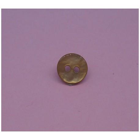 Bouton nacre agoya beige 9mm