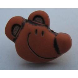 Bouton souris marron clair 15 mm b8