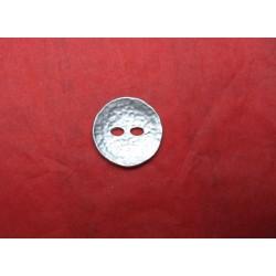 Bouton martelé argent 23mm